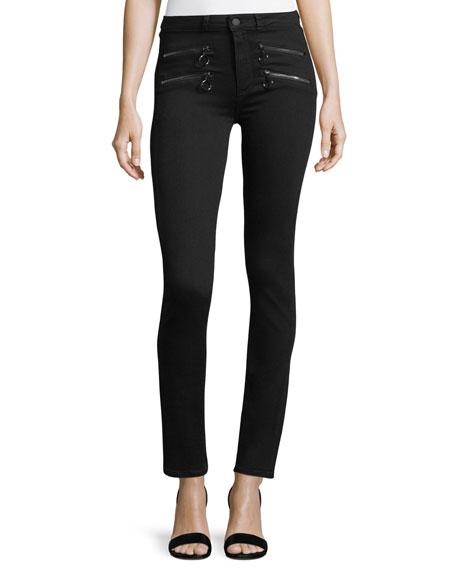 Kylo High-Rise Skinny Cigarette-Leg Jeans