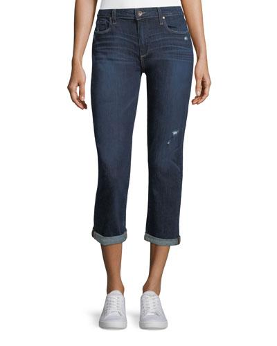 Brigitte Mid-Rise Straight-Leg Ankle Jeans
