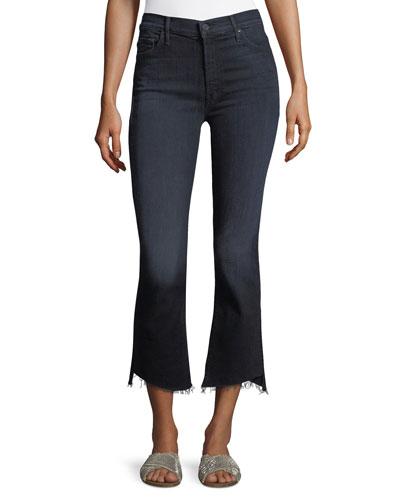 Insider Crop Frayed Step-Hem Cropped Jeans