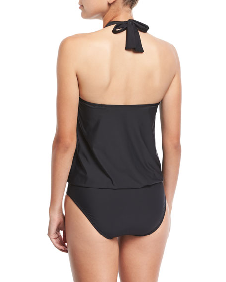 High-Neck Blouson Maillot Swimsuit