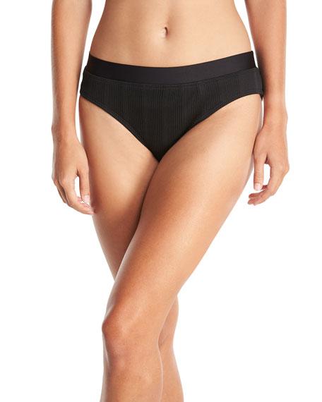 Fine Line Banded Hipster Swim Bikini Bottom
