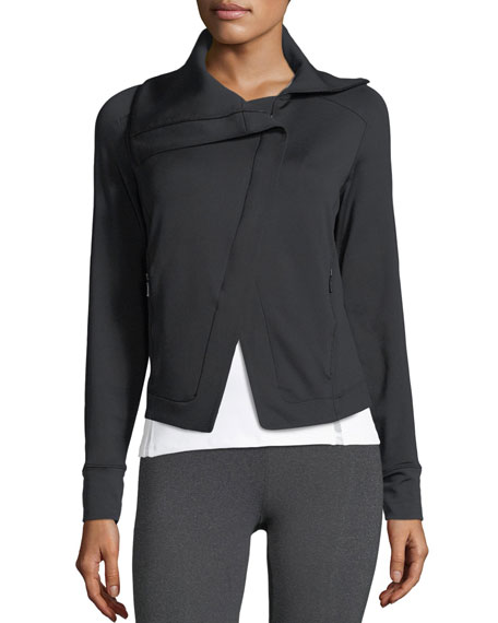 Heroine Sport Boost Asymmetric-Zip French-Terry Athletic Jacket