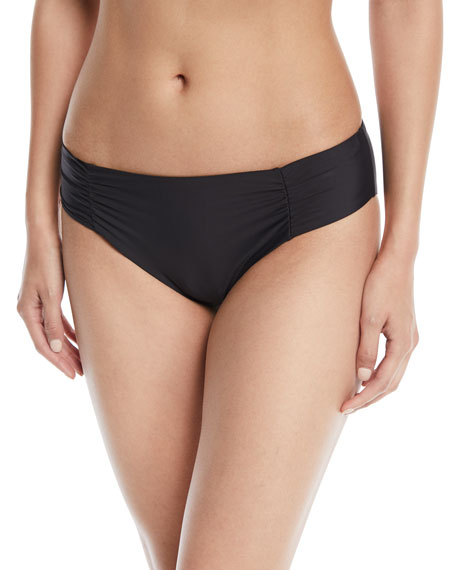 Hey There Shirred-Side Hipster Swim Bottom