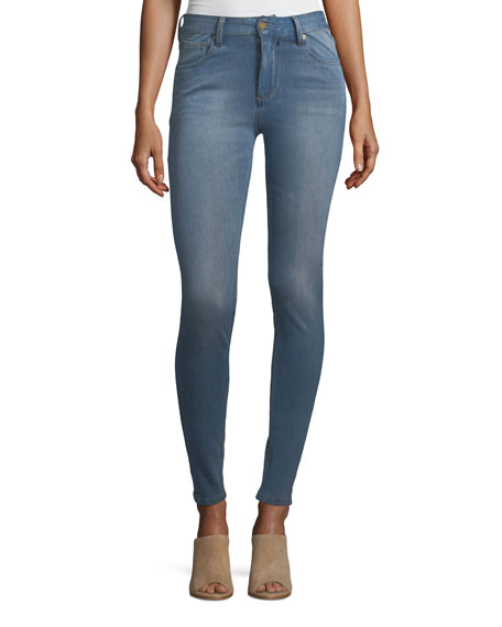 Quincy High-Rise Skinny Jeans, Blue
