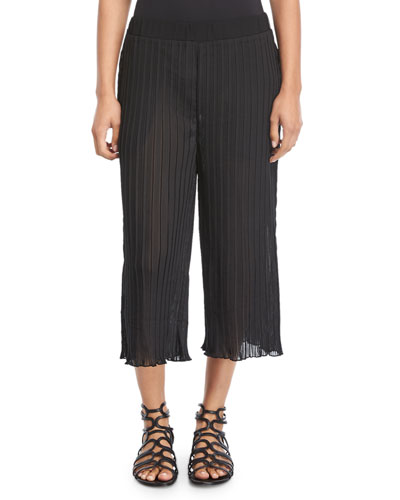 Plisse Pocketed Beach Pants