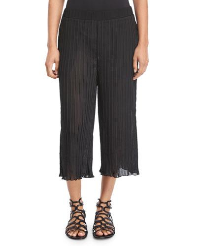 Plisse Pocketed Beach Pants