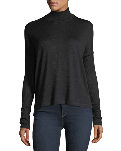 Amelie Cutout Turtleneck Top