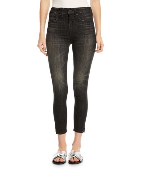 rag & bone/JEAN High-Rise Ankle Skinny-Leg Jeans with