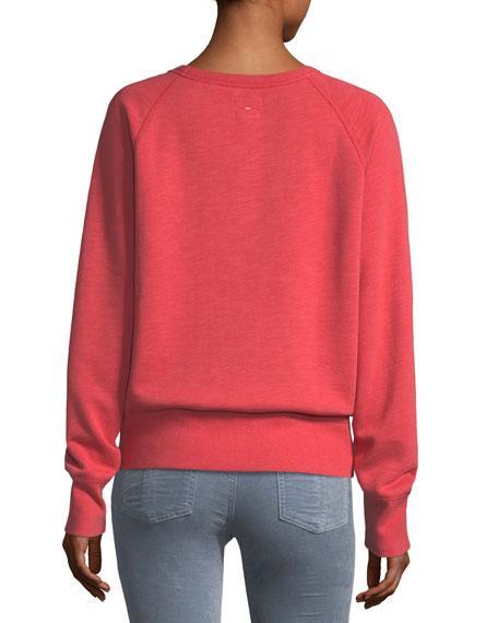 The Raglan QG Chain-Stitch Cotton Sweatshirt