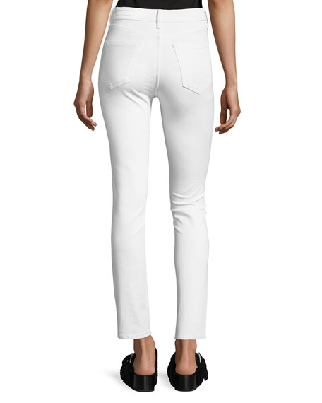 High-Rise Slim-Fit Cigarette Jeans