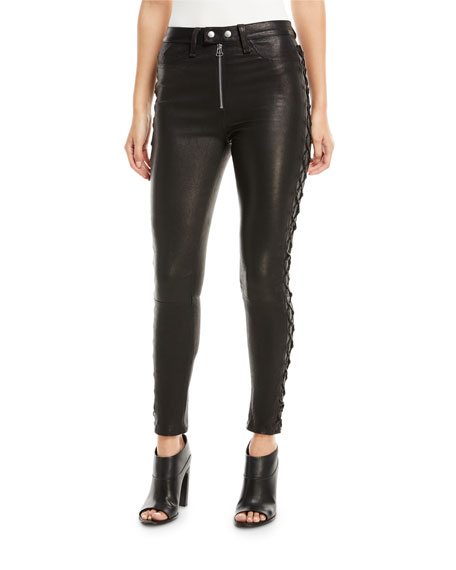 Leather Lace Skinny Black - 25%2c Schwarz Rag & Bone