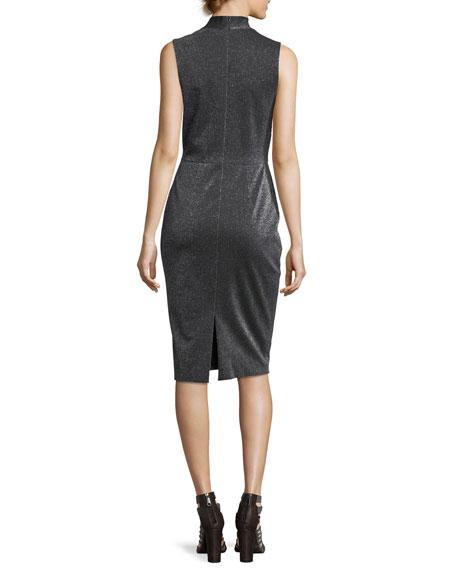 Asymmetric Bow Wrap Cocktail Dress