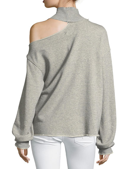 Langley Turtleneck Cotton Sweatshirt