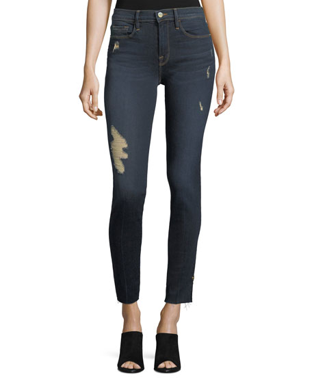raw edge skinny jeans - Blue Frame Denim
