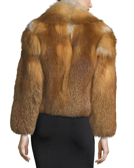 Lex Long-Sleeve Fox-Fur Coat