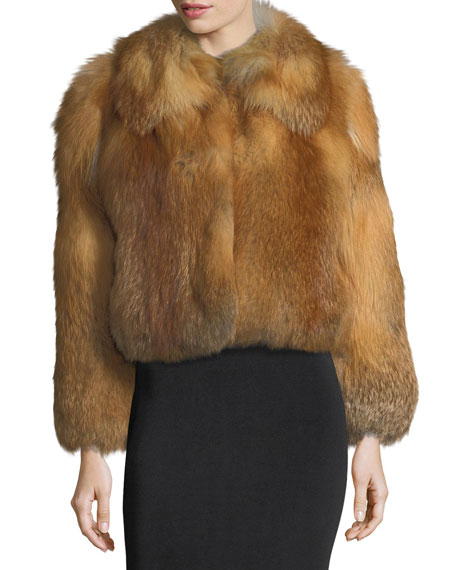 A.L.C. Lex Long-Sleeve Fox-Fur Coat