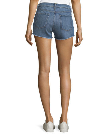 Le Cutoff Mid-Rise Denim Shorts
