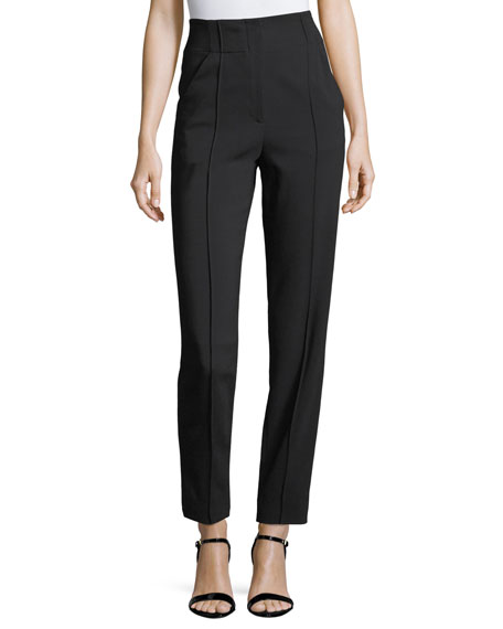 A.L.C. Angelo High-Waist Straight-Leg Crepe Pants