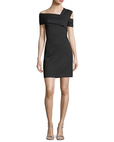 Asymmetric Fitted Mini Dress