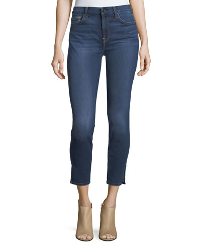 Skinny Cropped Split-Ankle Jeans