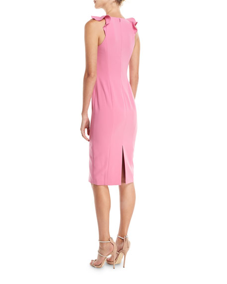 Marois Ruffle-Strap Sleeveless Cocktail Dress