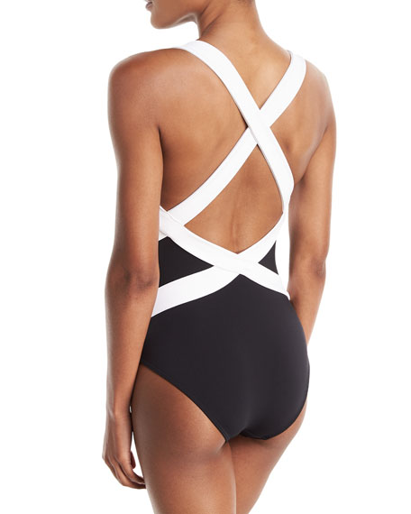 Classique Infinity Sweetheart Low-Back Strappy-Back One-Piece Swimsuit