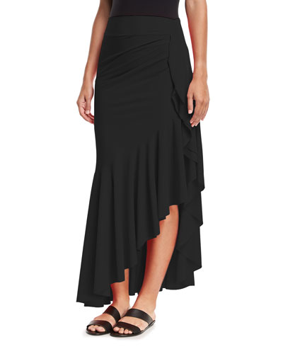 Josephine Ruffled-Hem Coverup Skirt