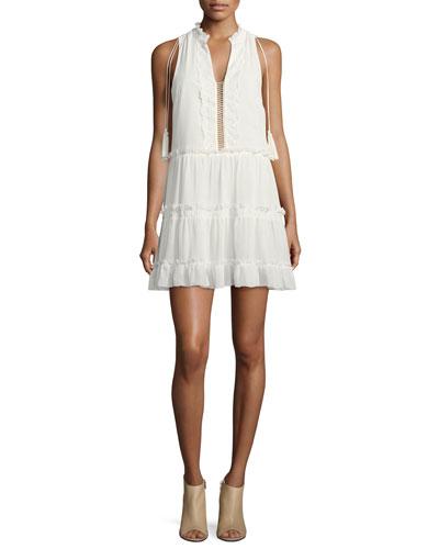 Gisele Split-Neck Mini Dress
