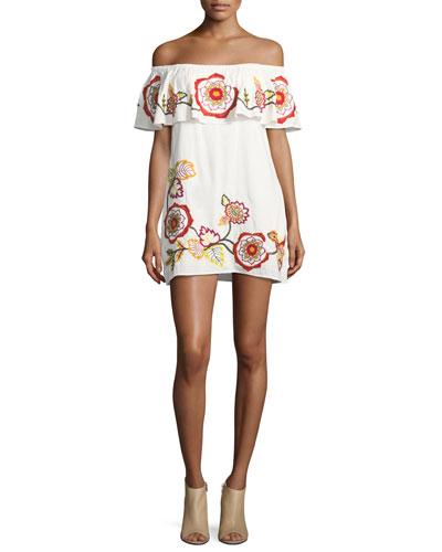 Adelaide Off-Shoulder Mini Dress