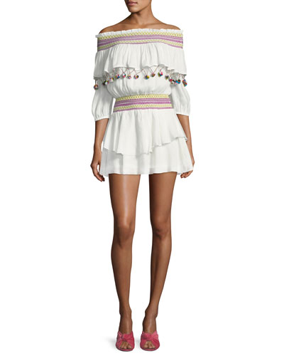Mira Off-Shoulder Coverup Dress