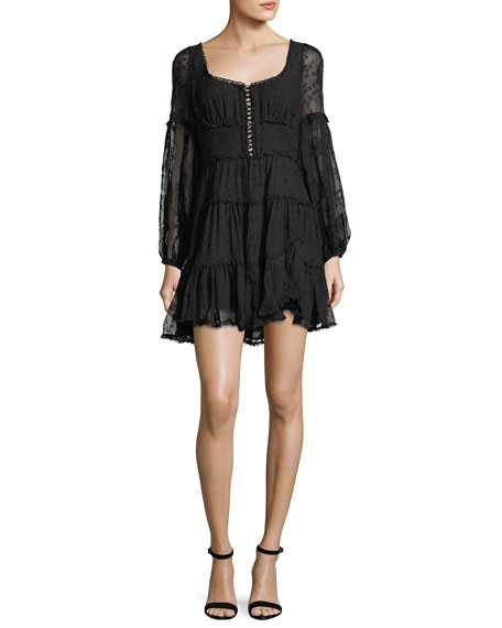 Zimmermann Lovelorn Lace Corset Minidress