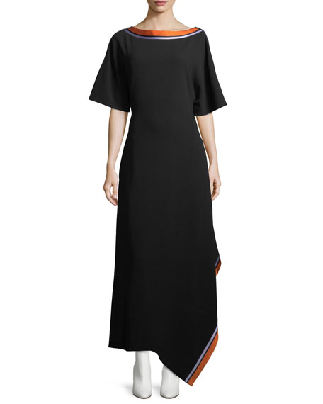 Diane Von Furstenberg Ribbon Collar Dress For Women Online Sale