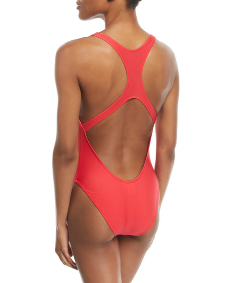 Resting Beach Face One-Piece Swimsuit