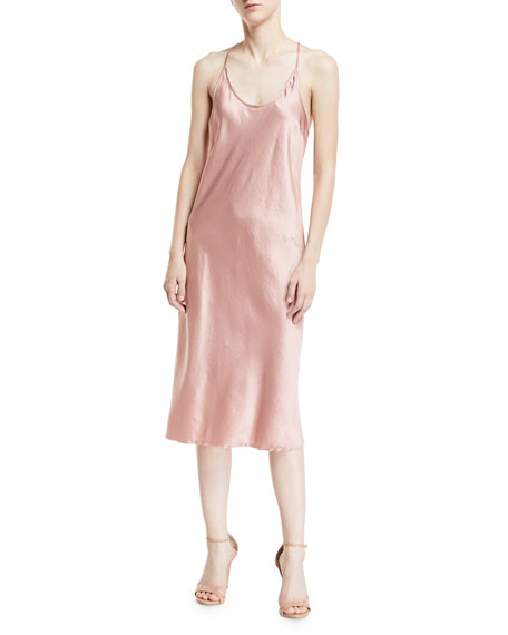 T by Alexander Wang Scoop-Neck Racerback Woven Satin