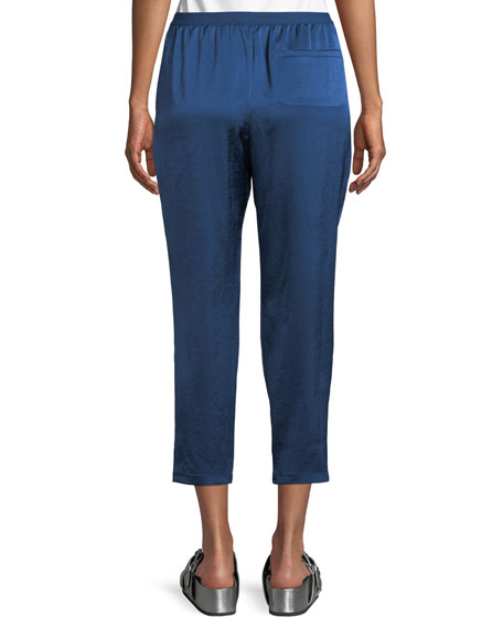 Wash & Go Elasticized Cropped Pants