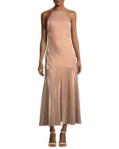 Opasidy Halter-Neck Midi Cocktail Dress