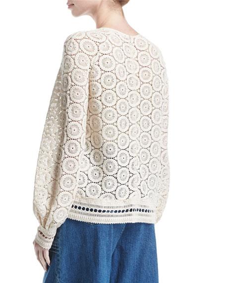 Cotton Medallion-Lace Top