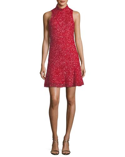 Marley Sequin Sleeveless Mini Dress