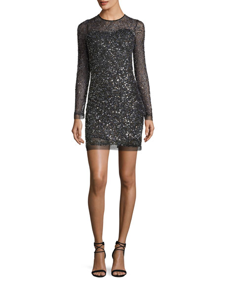 Parker multi color sequin dress
