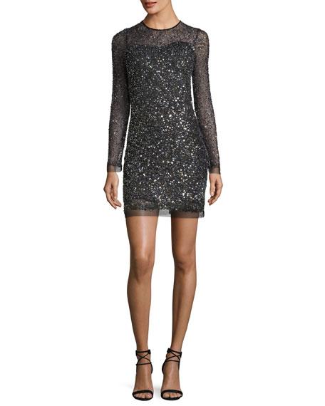 Parker multi color sequin dress