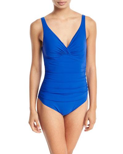 Tutti Frutti V-Neck Underwire One-Piece Swimsuit