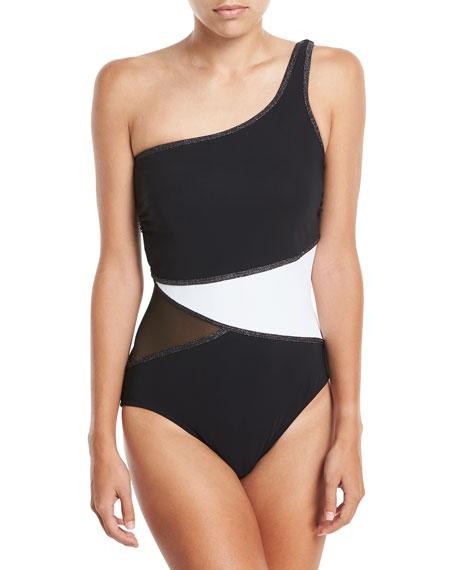 Profile by Gottex Stargazer One-Shoulder One-Piece Swimsuit