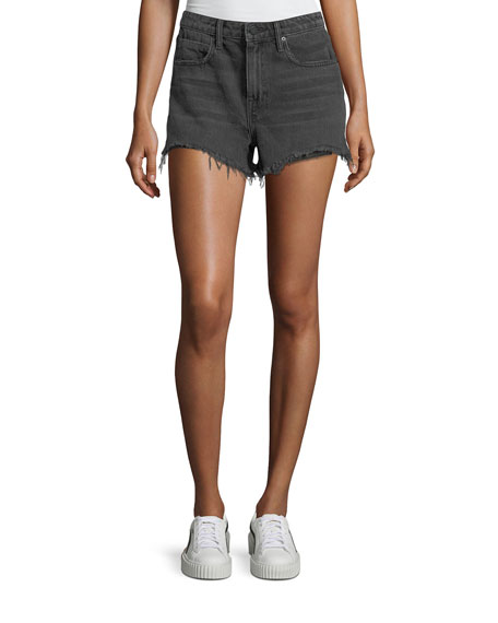 T by Alexander Wang Bite Clash Terry-Lined Denim