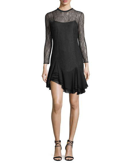 CAMILLA AND MARC Plaza Lace-Up Mini Dress