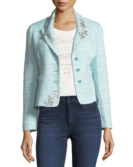 Boutique Moschino Embellished Boucl?? Blazer