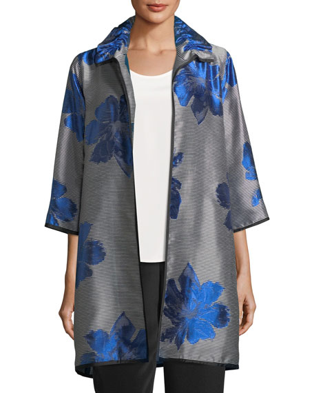 Caroline Rose Floral Pop Topper Jacket, Plus Size