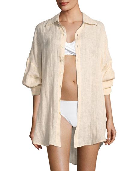 Playa Linen Coverup Shirtdress