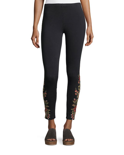 Libbie Embroidered Leggings, Plus Size