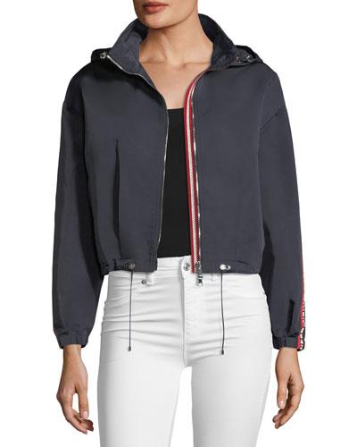 Zirconite Logo-Sleeve Cropped Jacket