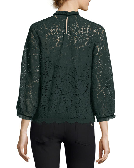 Ilise High-Neck Lace Top